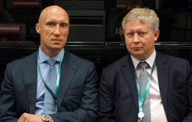 Andrey Dashin and Sergey Vyazmin at the International Financial Congress